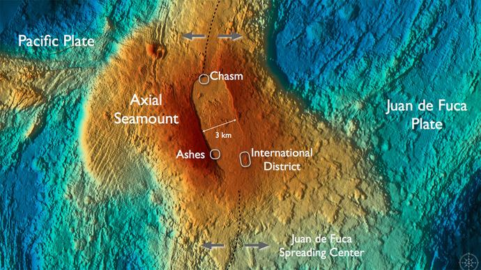 Juan de Fuca Axial Volcano and Vent Fields